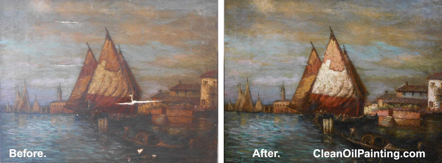 Cleaning Old Varnish Off Oil Painting
